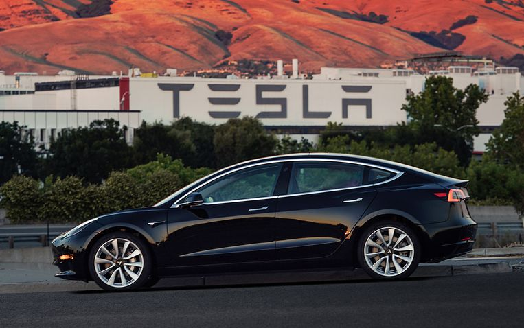 De Tesla Model 3.