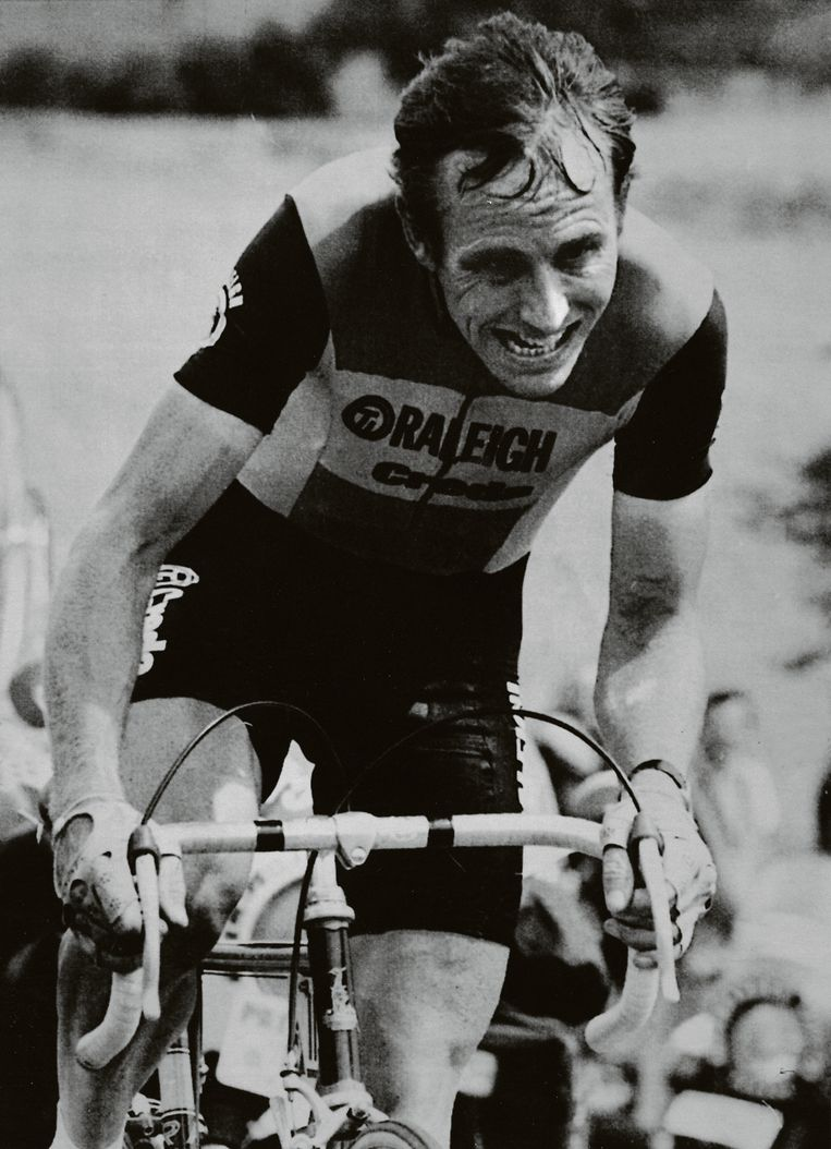 Joop Zoetemelk in de Tour de France van 1980.  Beeld AFP