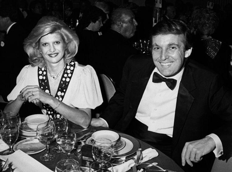 Trump met zijn eerste vrouw Ivana.