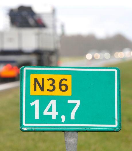 N36 bij Wierden en Vriezenveen deels afgesloten