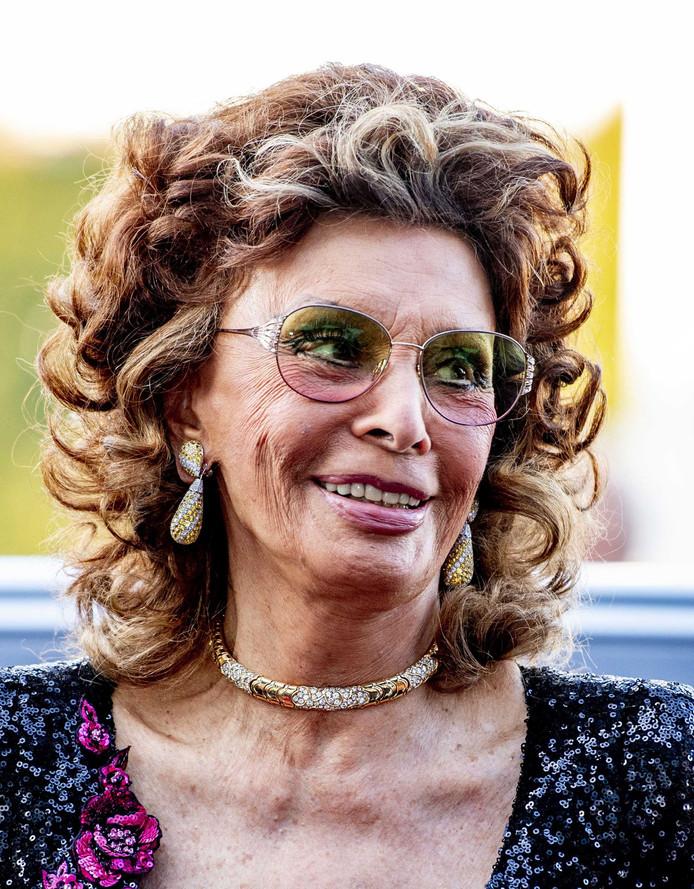 Sophia Loren bij het Film by the Sea-festival in Vlissingen.