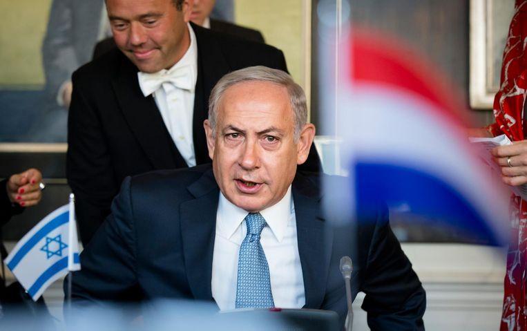 De Israelische premier Benjamin Netanyahu , tijdens zijn bezoek aan de Staten Generaal. Beeld anp