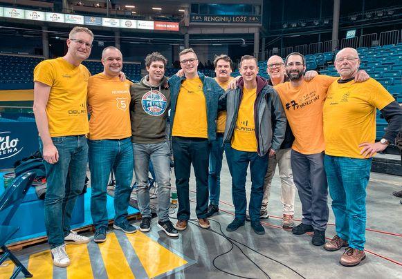 Deze fans volgden hun favoriete club Filou Oostende tot in het Litouwse Panevezys.