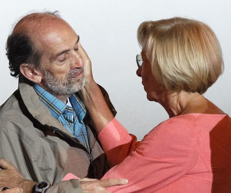 Quirico wordt onvangen door de Italiaanse minister van Buitenlandse Zaken, Emma Bonino. Beeld null