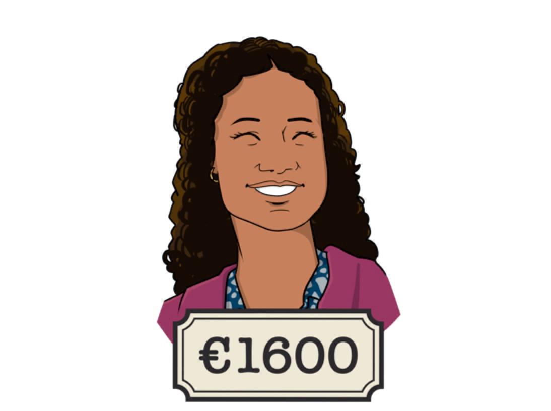 Louisa werkt 24 uur in de week als researcher: 'De meeste collega's verdienen waarschijnlijk meer. Ik ben de junior op de afdeling en zij werken meer uren.'