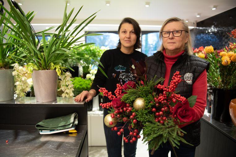 Rita Vynck  en schoondochter Julie.
