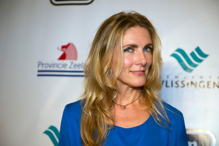 Jessica Durlacher op de rode loper bij het openingsgala van Film by the Sea. Beeld ANP