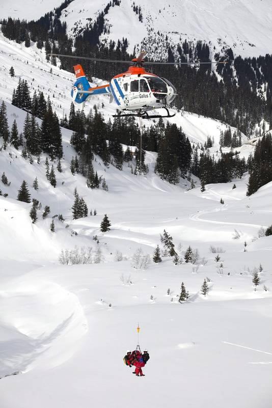 Foto van een reddingsoperatie in Lech van 17 januari van dit jaar. © EPA
