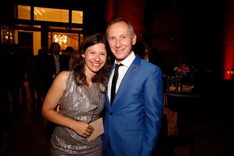 Met vriendin Marieke, voor het eerst mee op de rode loper.