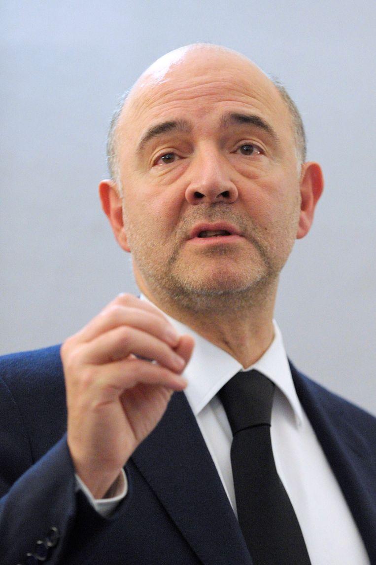 Pierre Moscovici uit Frankrijk is Europees commissaris Belastingen Beeld afp
