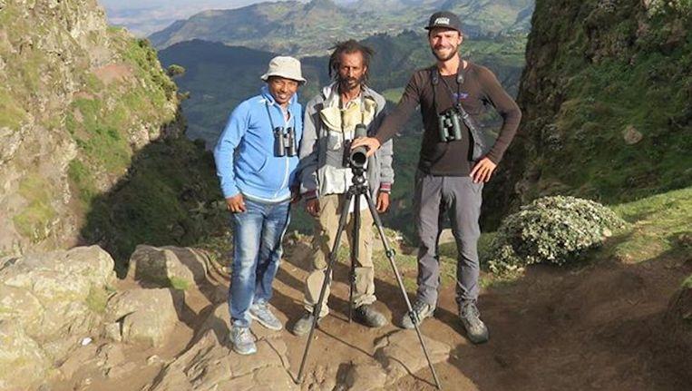 Arjan Dwarshuis (rechts) in Ethiopië. Beeld Eigen foto