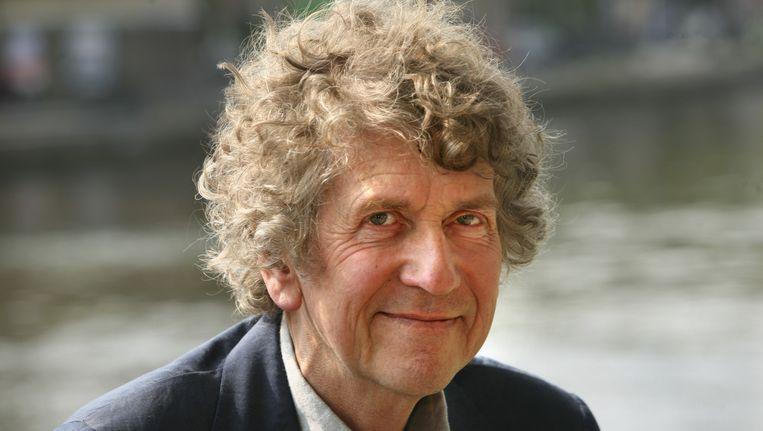 In de Amsterdamse Westerkerk is vanmiddag een dienst begonnen ter herdenking van Seth Gaaikema. De cabaretier overleed vorige week op 75-jarige leeftijd. Later op de dag wordt hij begraven op Zorgvlied. Beeld ANP Kippa