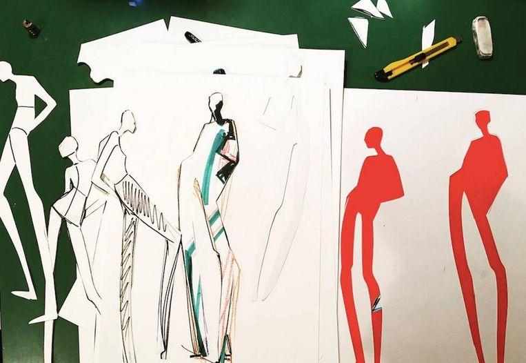 Investeer in jezelf in de vorm van een workshop modetekenen. Beeld Charlotte Greeven