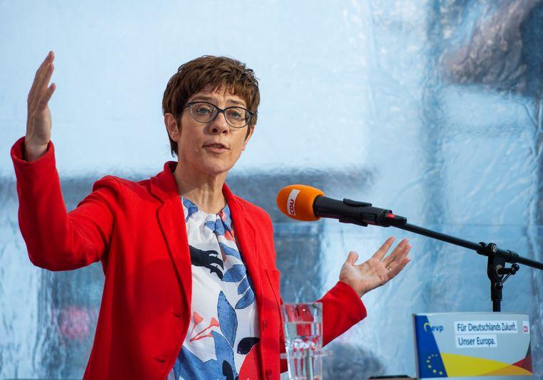Annegret Kramp-Karrenbauer, voorzitter van de Duitse christendemocraten (CDU)