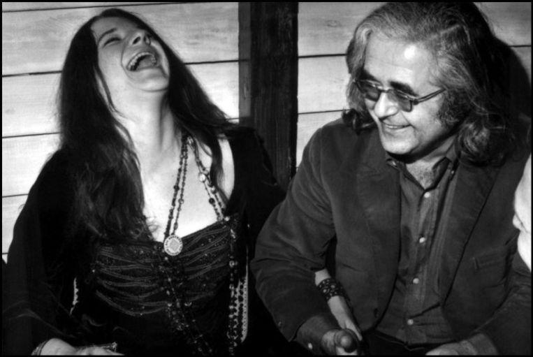 Janis Joplin met Albert Grossman. Beeld Hollandse Hoogte