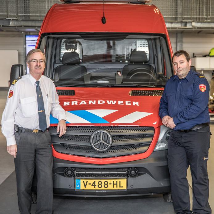 Koos de Feijter (l) en Arno Timmerman (r) van de Veiligheidsregio Zeeland.