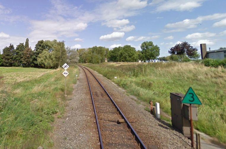 Het spoor richting Sas Van Gent.