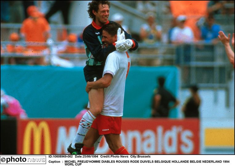 De Rode Duivels verslaan Nederland op het WK '94 in de VS. Man van de match met een reeks spectaculaire reddingen: Michel Preud'homme.