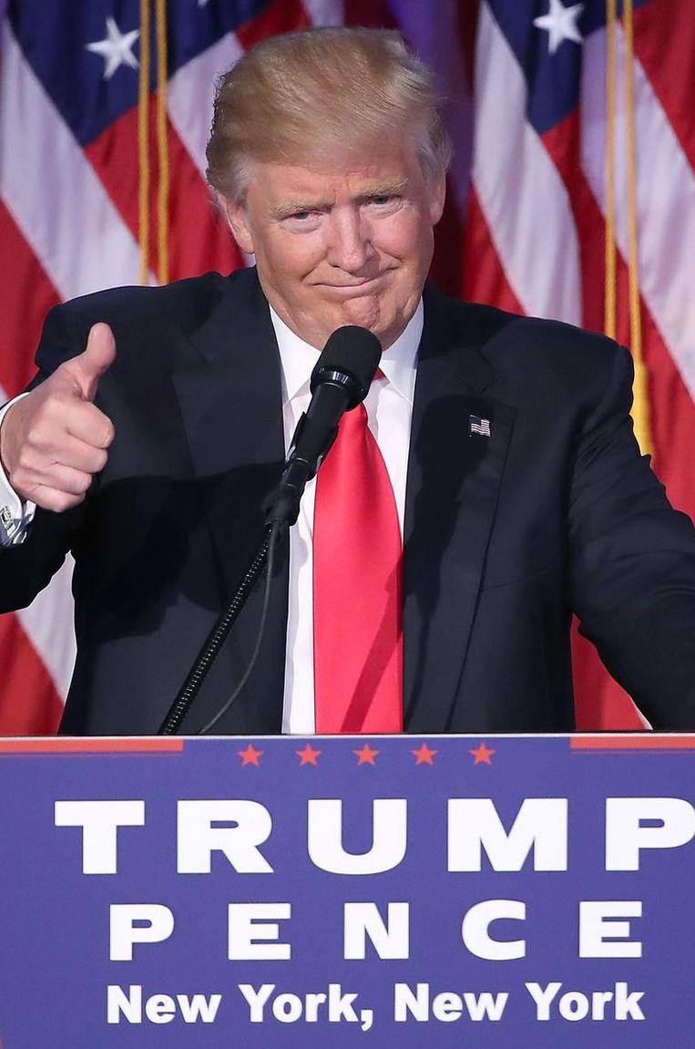 De Amerikaanse president-elect Donald Trump.