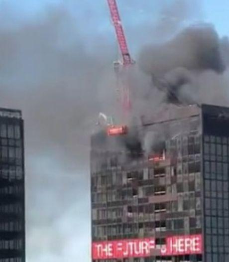 L'incendie rapidement maîtrisé dans la tour du WTC à Bruxelles