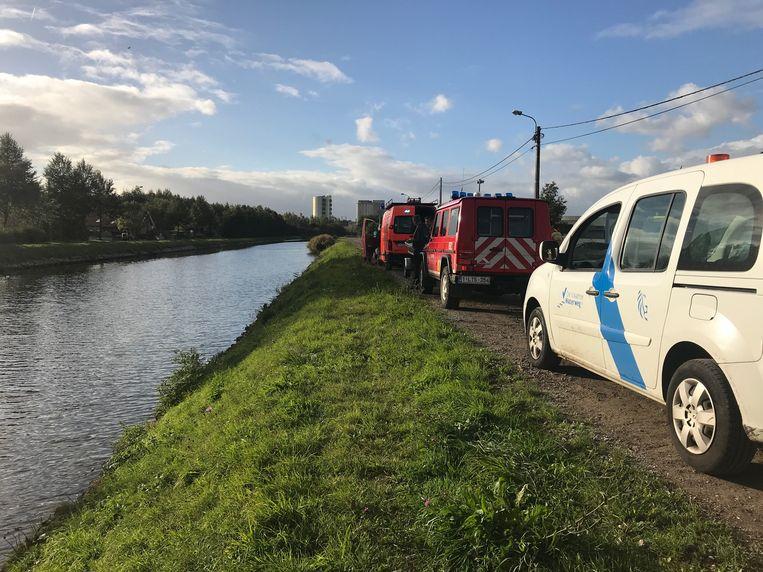 De politie en de brandweer rukten uit om de vrouw te redden.