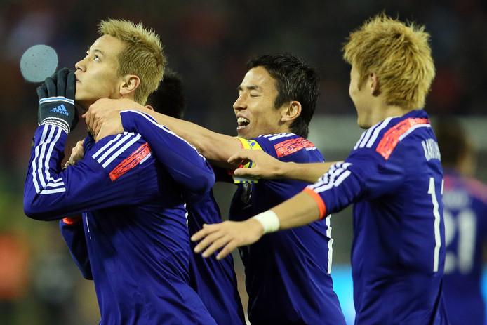 Keisuke Honda scoort ook tegen België.