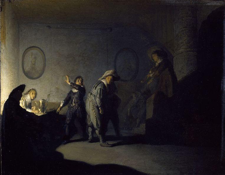 Rembrandt van Rijn, Kaartspelers in een interieur (ca. 1628). Beeld National Gallery Ireland, Dublin