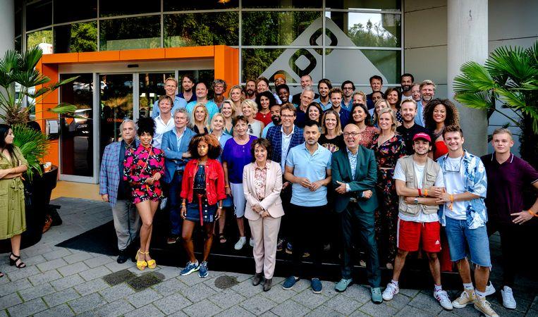 Een presentatie van de NPO voor de start van het seizoen 2019-2020. Beeld Hollandse Hoogte /  ANP Kippa