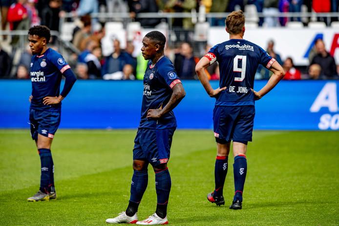 Enorme teleurstelling bij PSV na afloop van AZ-PSV.