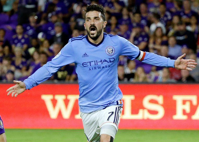 David Villa, hier nog in het shirt van New York City FC.