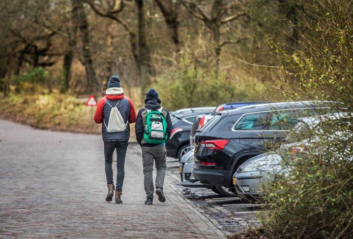 Normaal gesproken is het leeg op doordeweekse dagen in januari in Meijendel. Afgelopen donderdag, bij regen, trokken toch weer veel wandelaars het natuurgebied in. Het is drukker dan ooit.