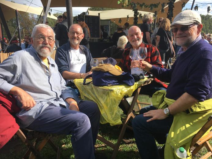 Len, George, Henk en Koos (vanaf links) op Tuckerville 2019