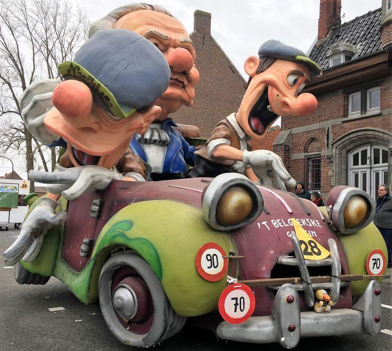 De carnavalwagen van de Orde van het Belgiekske