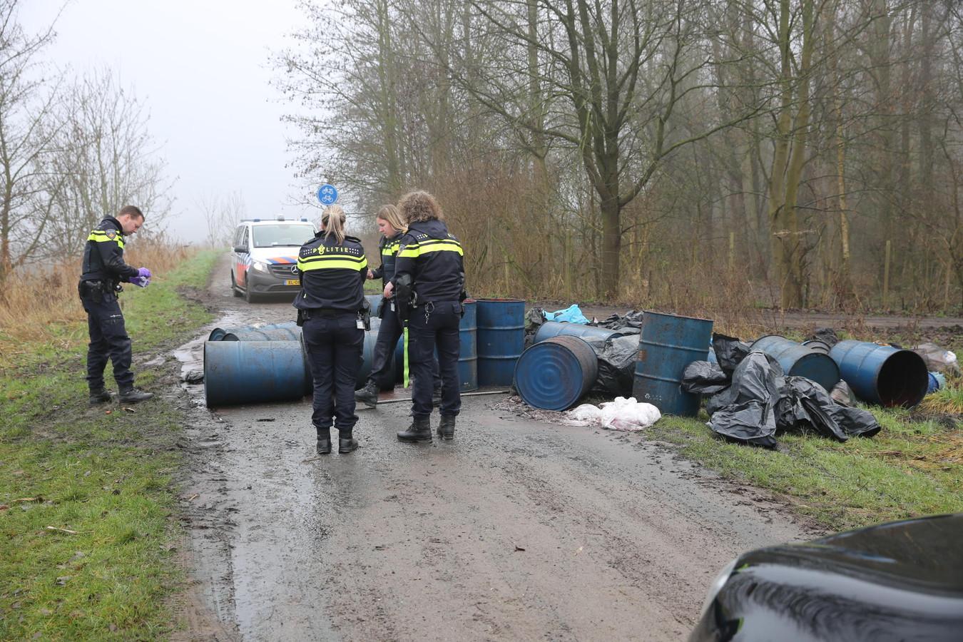 Illgeale drugsdumping in Zevenbergen.