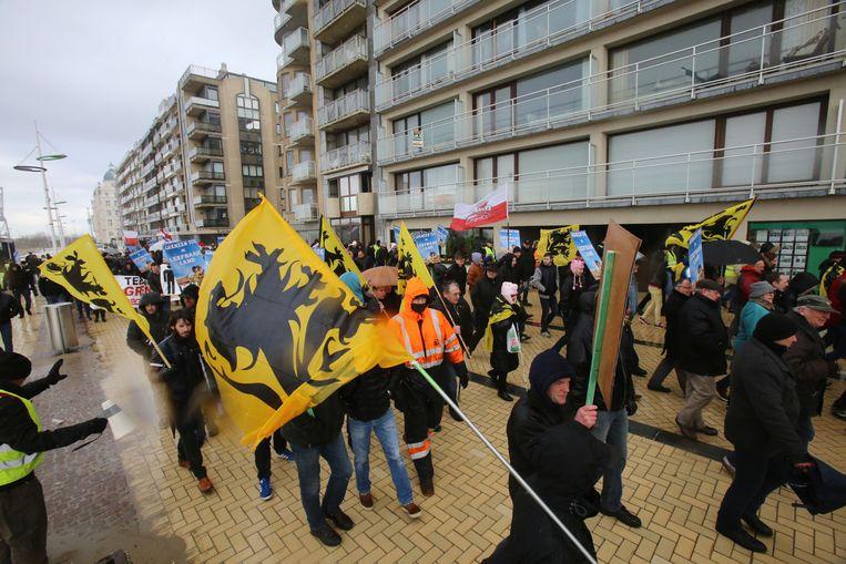 Zeebrugge betoging archiefbeeld