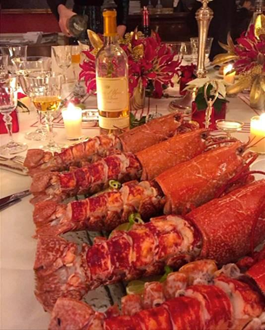 Luxe gerechten bij de diners van De Rugy.
