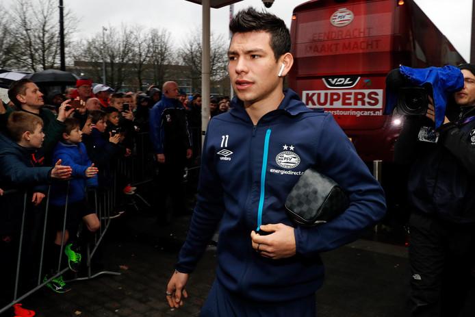 Hirving Lozano voor het duel met FC Utrecht.