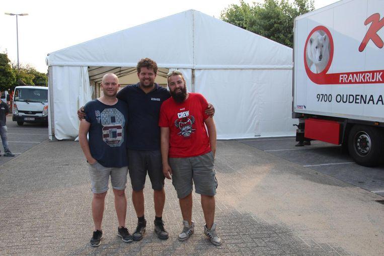 Organisatoren Jo Van De Keere, Tom De Jaeger, Wouter Wynant en Nico Meerpoel (niet op foto), zijn er klaar voor.
