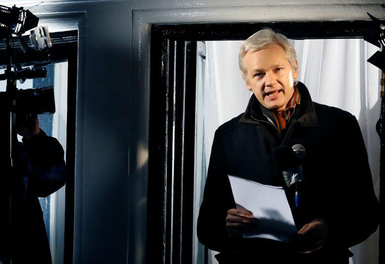 Julian Assange op een archieffoto uit 2012.  Beeld AP
