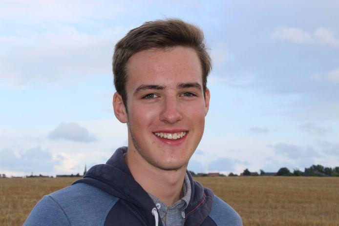 Cédric Pattyn (18) is een bezige bij.