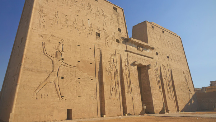 De Tempel van Horus in Edfu.