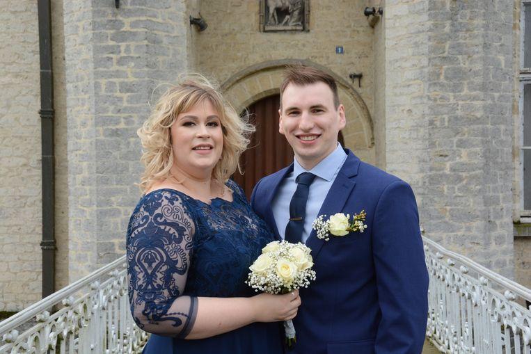 Andrea Marjanovic en Bart Rodyns stapten vandaag, 29 februari, in het huwelijksbootje.