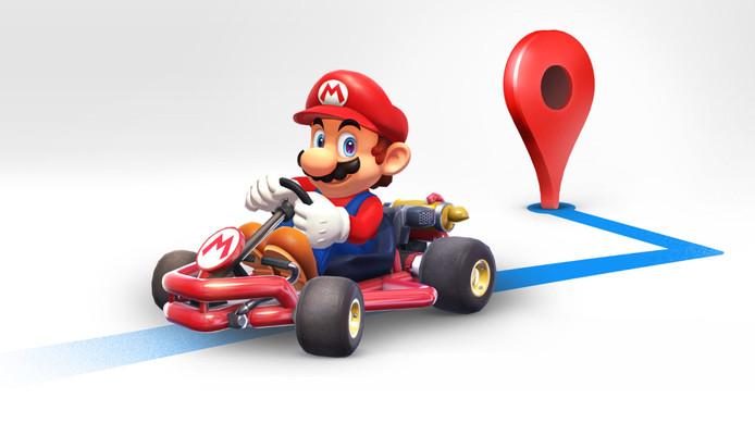 Super Mario op de routekaart met z'n kart