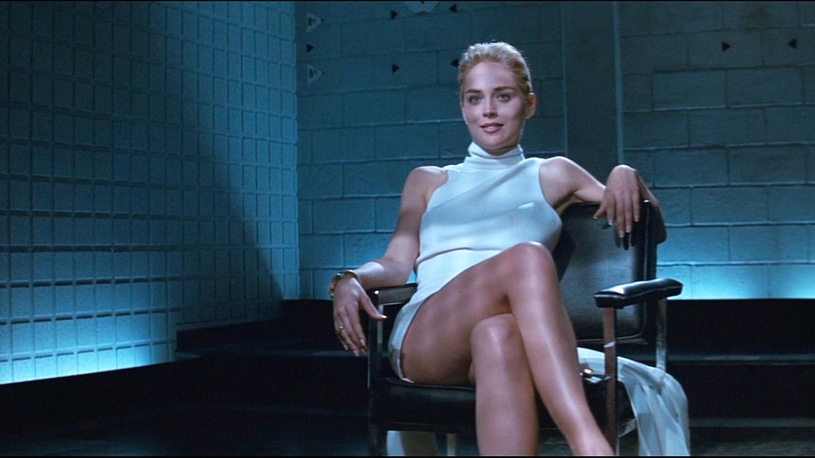De legendarische scene met Sharon Stone in Basic Instinct (1992).