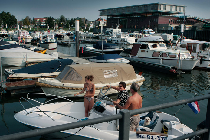 De jachthaven in Sliedrecht.