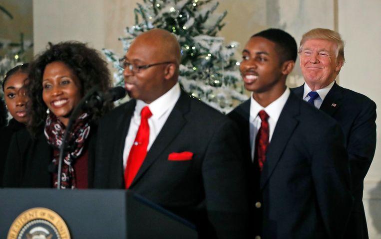 Een ander gezin dat vertelt over impact van de belastingplannen op hun leven. Beeld AP