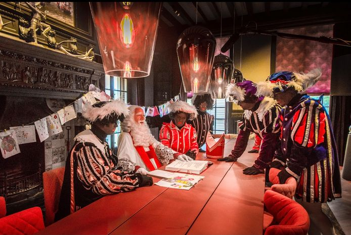 De opnames van de Sinterklaasfilm bij Landgoed Het Hooge Boekel
