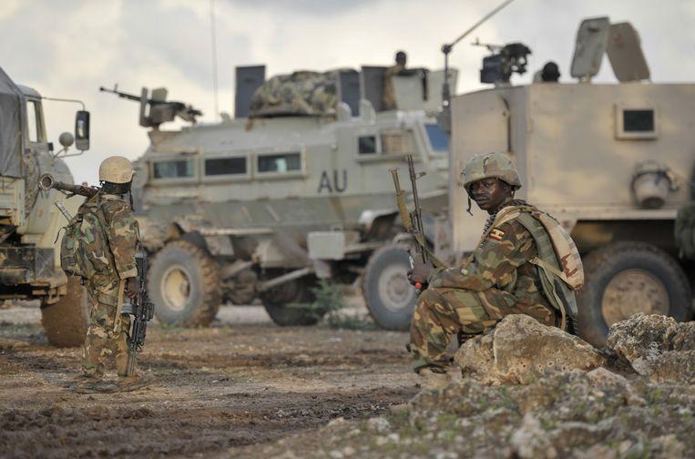 Soldaten uit Oeganda vechten in Somalië tegen al-Shabaab Beeld ap
