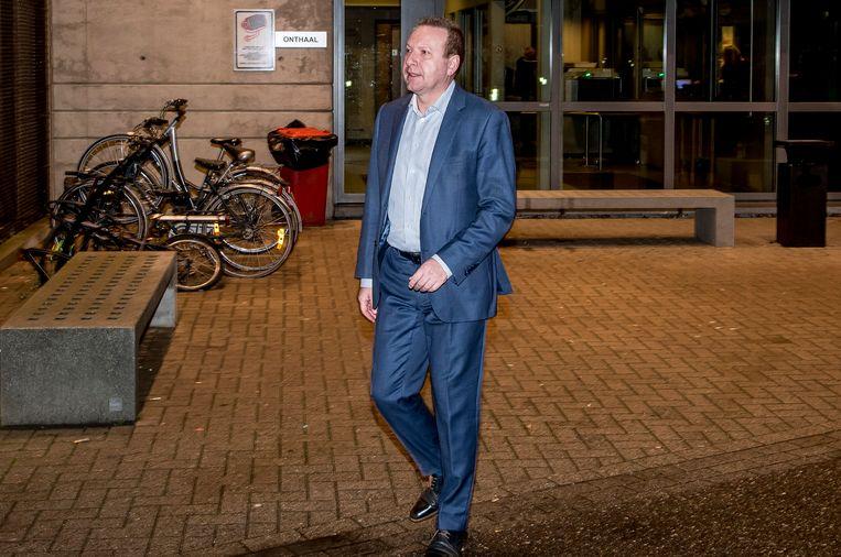 Financieel directeur van KV Mechelen Thierry Steemans bij zijn vrijlating uit de gevangenis van Hasselt.