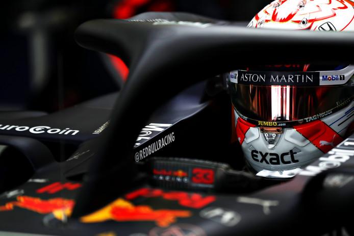 Max Verstappen tijdens de GP van Mexico.